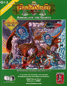 Spirit Games (Est. 1984) - Supplying role playing games (RPG), wargames rules, miniatures and scenery, new and traditional board and card games for the last 20 years sells Annihilate the Giants: G1-3 (4th Ed)