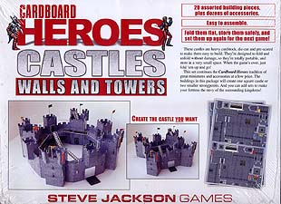 Spirit Games (Est. 1984) - Supplying role playing games (RPG), wargames rules, miniatures and scenery, new and traditional board and card games for the last 20 years sells Cardboard Heroes: Castles Walls and Towers