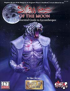 Spirit Games (Est. 1984) - Supplying role playing games (RPG), wargames rules, miniatures and scenery, new and traditional board and card games for the last 20 years sells Slaves of the Moon: The Essential Guide to Lycanthropes