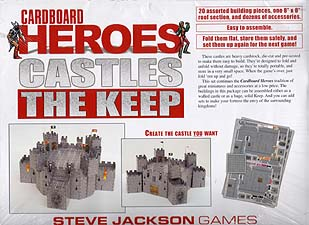 Spirit Games (Est. 1984) - Supplying role playing games (RPG), wargames rules, miniatures and scenery, new and traditional board and card games for the last 20 years sells Cardboard Heroes: Castles The Keep