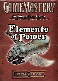 Spirit Games (Est. 1984) - Supplying role playing games (RPG), wargames rules, miniatures and scenery, new and traditional board and card games for the last 20 years sells GameMastery Item Cards: Elements of Power