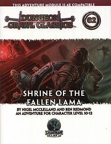 Spirit Games (Est. 1984) - Supplying role playing games (RPG), wargames rules, miniatures and scenery, new and traditional board and card games for the last 20 years sells Dungeon Crawl Classics 62: Shrine of the Fallen Lama