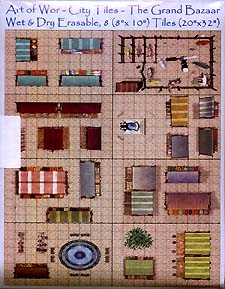 Spirit Games (Est. 1984) - Supplying role playing games (RPG), wargames rules, miniatures and scenery, new and traditional board and card games for the last 20 years sells Art of Wor City Tiles: The Grand Bazaar