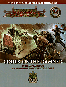 Spirit Games (Est. 1984) - Supplying role playing games (RPG), wargames rules, miniatures and scenery, new and traditional board and card games for the last 20 years sells Dungeon Crawl Classics 64: Codex of the Damned