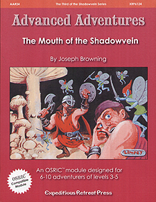 Spirit Games (Est. 1984) - Supplying role playing games (RPG), wargames rules, miniatures and scenery, new and traditional board and card games for the last 20 years sells Advanced Adventures AA#24: The Mouth of the Shadowvein