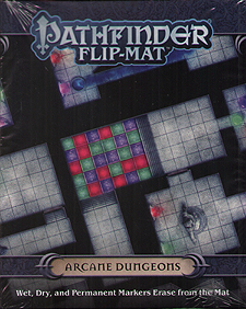 Spirit Games (Est. 1984) - Supplying role playing games (RPG), wargames rules, miniatures and scenery, new and traditional board and card games for the last 20 years sells Pathfinder Flip-Mat: Arcane Dungeons