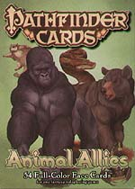 Spirit Games (Est. 1984) - Supplying role playing games (RPG), wargames rules, miniatures and scenery, new and traditional board and card games for the last 20 years sells Pathfinder Face Cards: Animal Allies