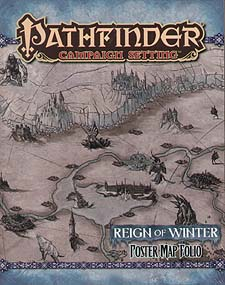 Spirit Games (Est. 1984) - Supplying role playing games (RPG), wargames rules, miniatures and scenery, new and traditional board and card games for the last 20 years sells Pathfinder Campaign Setting: Reign of Winter Poster Map Folio