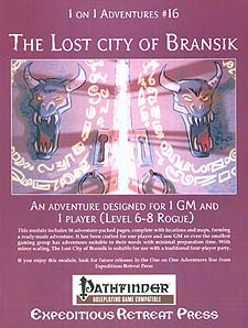 Spirit Games (Est. 1984) - Supplying role playing games (RPG), wargames rules, miniatures and scenery, new and traditional board and card games for the last 20 years sells 1 on 1 Adventures #16: The Lost City of Bransik
