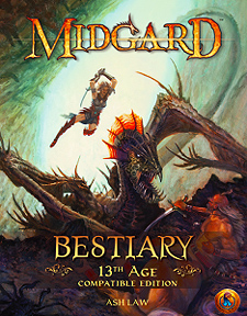 Spirit Games (Est. 1984) - Supplying role playing games (RPG), wargames rules, miniatures and scenery, new and traditional board and card games for the last 20 years sells Midgard Bestiary: 13th Age Compatible Edition