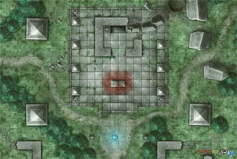 Spirit Games (Est. 1984) - Supplying role playing games (RPG), wargames rules, miniatures and scenery, new and traditional board and card games for the last 20 years sells Game Mat: Jungle Temple
