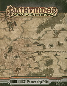Spirit Games (Est. 1984) - Supplying role playing games (RPG), wargames rules, miniatures and scenery, new and traditional board and card games for the last 20 years sells Pathfinder Campaign Setting: Iron Gods Poster Map Folio