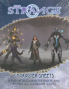 Spirit Games (Est. 1984) - Supplying role playing games (RPG), wargames rules, miniatures and scenery, new and traditional board and card games for the last 20 years sells The Strange: Character Sheets