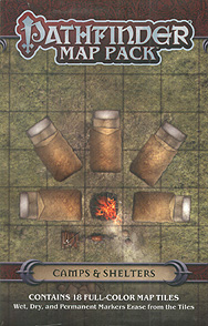 Spirit Games (Est. 1984) - Supplying role playing games (RPG), wargames rules, miniatures and scenery, new and traditional board and card games for the last 20 years sells Pathfinder Map Pack: Camps and Shelters