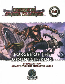 Spirit Games (Est. 1984) - Supplying role playing games (RPG), wargames rules, miniatures and scenery, new and traditional board and card games for the last 20 years sells Dungeon Crawl Classics 54: Forges of the Mountain King