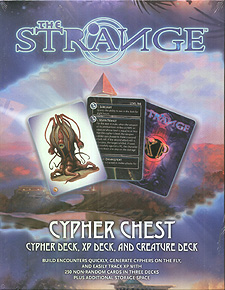 Spirit Games (Est. 1984) - Supplying role playing games (RPG), wargames rules, miniatures and scenery, new and traditional board and card games for the last 20 years sells The Strange: Cypher Chest
