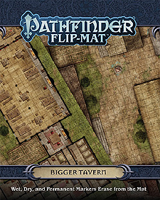 Spirit Games (Est. 1984) - Supplying role playing games (RPG), wargames rules, miniatures and scenery, new and traditional board and card games for the last 20 years sells Pathfinder Flip-Mat: Bigger Tavern