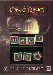 Spirit Games (Est. 1984) - Supplying role playing games (RPG), wargames rules, miniatures and scenery, new and traditional board and card games for the last 20 years sells The One Ring Deluxe Dice Set