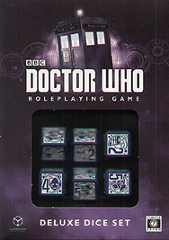 Spirit Games (Est. 1984) - Supplying role playing games (RPG), wargames rules, miniatures and scenery, new and traditional board and card games for the last 20 years sells Doctor Who Deluxe Dice Set