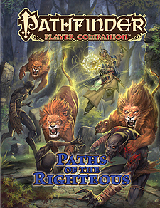 Spirit Games (Est. 1984) - Supplying role playing games (RPG), wargames rules, miniatures and scenery, new and traditional board and card games for the last 20 years sells Pathfinder Player Companion: Paths of the Righteous