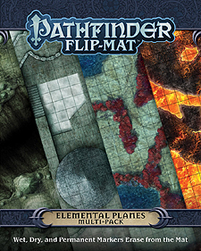 Spirit Games (Est. 1984) - Supplying role playing games (RPG), wargames rules, miniatures and scenery, new and traditional board and card games for the last 20 years sells Pathfinder Flip-Mat: Elemental Planes Multi-Pack