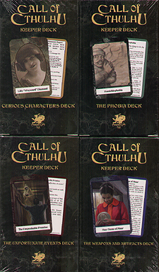 Spirit Games (Est. 1984) - Supplying role playing games (RPG), wargames rules, miniatures and scenery, new and traditional board and card games for the last 20 years sells Call of Cthulhu Keeper Decks