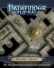 Spirit Games (Est. 1984) - Supplying role playing games (RPG), wargames rules, miniatures and scenery, new and traditional board and card games for the last 20 years sells Pathfinder Flip-Mat: Arcane Library