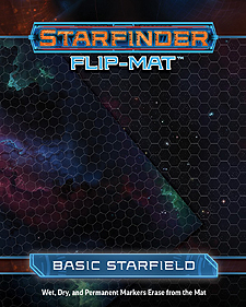 Spirit Games (Est. 1984) - Supplying role playing games (RPG), wargames rules, miniatures and scenery, new and traditional board and card games for the last 20 years sells Starfinder Flip-Mat: Basic Starfield