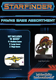 Spirit Games (Est. 1984) - Supplying role playing games (RPG), wargames rules, miniatures and scenery, new and traditional board and card games for the last 20 years sells Starfinder Pawns: Base Assortment