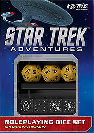 Spirit Games (Est. 1984) - Supplying role playing games (RPG), wargames rules, miniatures and scenery, new and traditional board and card games for the last 20 years sells Star Trek Adventures: Operations Division Gold Dice Set