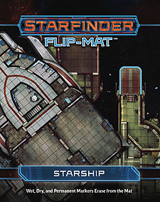 Spirit Games (Est. 1984) - Supplying role playing games (RPG), wargames rules, miniatures and scenery, new and traditional board and card games for the last 20 years sells Starfinder Flip-Mat: Starship