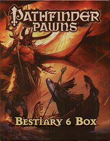 Spirit Games (Est. 1984) - Supplying role playing games (RPG), wargames rules, miniatures and scenery, new and traditional board and card games for the last 20 years sells Pathfinder Pawns: Bestiary 6 Box