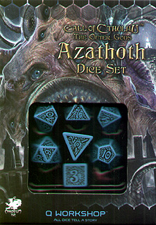 Spirit Games (Est. 1984) - Supplying role playing games (RPG), wargames rules, miniatures and scenery, new and traditional board and card games for the last 20 years sells Call of Cthulhu: The Outer Gods Azthoth Dice Set