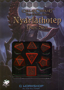 Spirit Games (Est. 1984) - Supplying role playing games (RPG), wargames rules, miniatures and scenery, new and traditional board and card games for the last 20 years sells Call of Cthulhu: The Outer Gods Nyarlathotep Dice Set