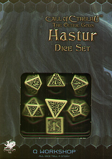 Spirit Games (Est. 1984) - Supplying role playing games (RPG), wargames rules, miniatures and scenery, new and traditional board and card games for the last 20 years sells Call of Cthulhu: The Outer Gods Hastur Dice Set