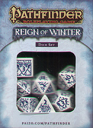 Spirit Games (Est. 1984) - Supplying role playing games (RPG), wargames rules, miniatures and scenery, new and traditional board and card games for the last 20 years sells Pathfinder Reign of Winter Dice Set