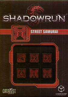 Spirit Games (Est. 1984) - Supplying role playing games (RPG), wargames rules, miniatures and scenery, new and traditional board and card games for the last 20 years sells Shadowrun Dice Set: Street Samurai