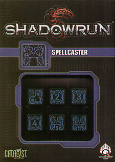 Spirit Games (Est. 1984) - Supplying role playing games (RPG), wargames rules, miniatures and scenery, new and traditional board and card games for the last 20 years sells Shadowrun Dice Set: Spellcaster