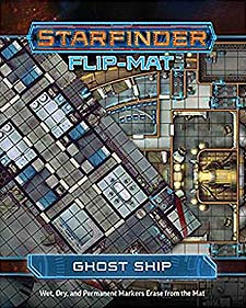 Spirit Games (Est. 1984) - Supplying role playing games (RPG), wargames rules, miniatures and scenery, new and traditional board and card games for the last 20 years sells Starfinder Flip-Mat: Ghost Ship