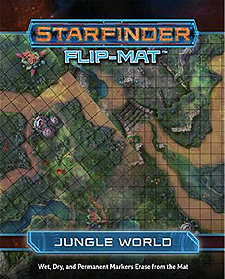 Spirit Games (Est. 1984) - Supplying role playing games (RPG), wargames rules, miniatures and scenery, new and traditional board and card games for the last 20 years sells Starfinder Flip-Mat: Jungle World
