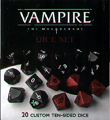 Spirit Games (Est. 1984) - Supplying role playing games (RPG), wargames rules, miniatures and scenery, new and traditional board and card games for the last 20 years sells Vampire: The Masquerade Dice Set