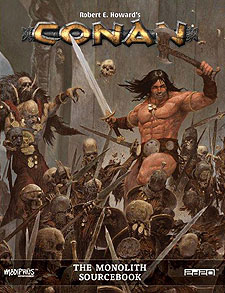 Spirit Games (Est. 1984) - Supplying role playing games (RPG), wargames rules, miniatures and scenery, new and traditional board and card games for the last 20 years sells Conan: The Monolith Sourcebook