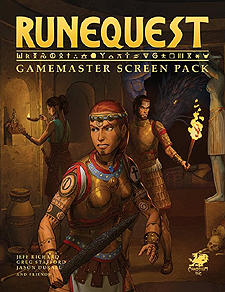 Spirit Games (Est. 1984) - Supplying role playing games (RPG), wargames rules, miniatures and scenery, new and traditional board and card games for the last 20 years sells Runequest Gamemaster Screen Pack