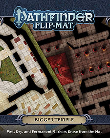 Spirit Games (Est. 1984) - Supplying role playing games (RPG), wargames rules, miniatures and scenery, new and traditional board and card games for the last 20 years sells Pathfinder Flip-Mat: Bigger Temple