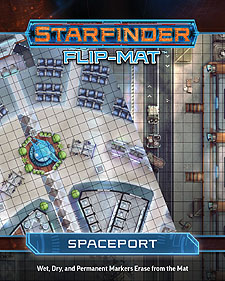 Spirit Games (Est. 1984) - Supplying role playing games (RPG), wargames rules, miniatures and scenery, new and traditional board and card games for the last 20 years sells Starfinder Flip-Mat: Spaceport