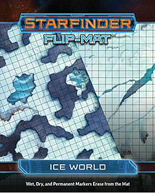 Spirit Games (Est. 1984) - Supplying role playing games (RPG), wargames rules, miniatures and scenery, new and traditional board and card games for the last 20 years sells Starfinder Flip-Mat: Ice World