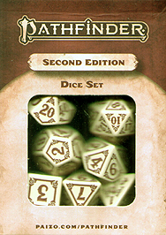 Spirit Games (Est. 1984) - Supplying role playing games (RPG), wargames rules, miniatures and scenery, new and traditional board and card games for the last 20 years sells Pathfinder RPG 2nd Edition: Dice Set