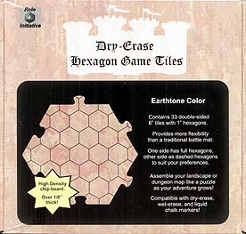 Spirit Games (Est. 1984) - Supplying role playing games (RPG), wargames rules, miniatures and scenery, new and traditional board and card games for the last 20 years sells Dry-Erase Dungeon Tiles Earthtone Hex