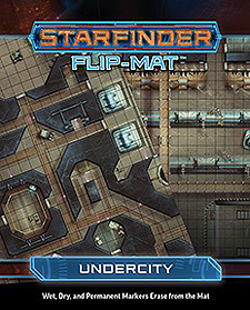 Spirit Games (Est. 1984) - Supplying role playing games (RPG), wargames rules, miniatures and scenery, new and traditional board and card games for the last 20 years sells Starfinder Flip-Mat: Undercity