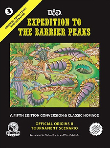 Spirit Games (Est. 1984) - Supplying role playing games (RPG), wargames rules, miniatures and scenery, new and traditional board and card games for the last 20 years sells Original Adventures Reincarnated #3: Expedition to the Barrier Peaks